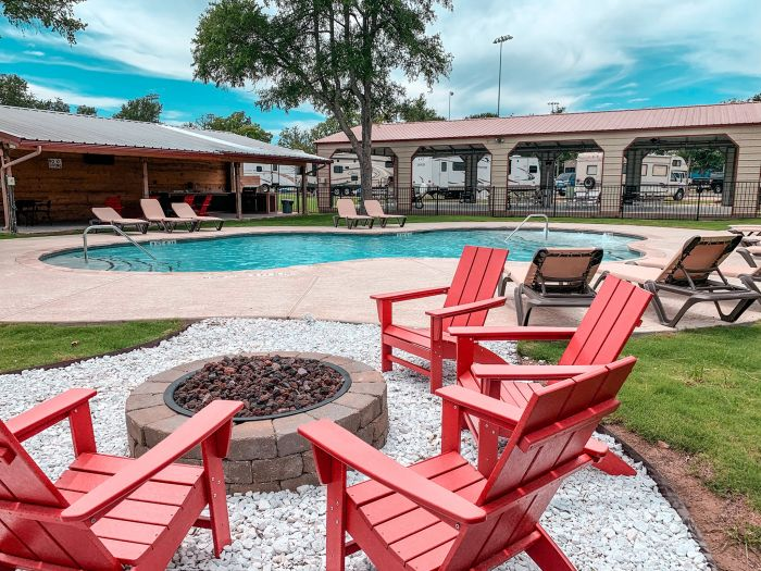 Great Escapes Austin Oaks Pool and Fire Pit